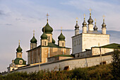 Cathedral of the Assumption (mid-18th century) and Church of All Saints, Goritsky Monastery (17th-18th centuries), Pereyaslavl-Zalessky. Golden Ring, Russia