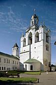 Belfry (16th century) of Spaso-Preobrazhensky (Transfiguration of the Saviour) Monastery, Yaroslavl. Golden Ring, Russia