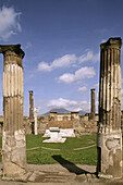 Temple of Apollo, ruins of the old Roman city of Pompeii. Campania, Italy