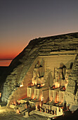 Great temple of Abu Simbel. Egypt