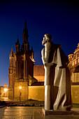 St. Anne s church, Statue of Adam Mickiewicz. Vilnius. Lithuania.