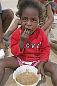 Soup kitchen run by Catholic Aids Action, to feed poor children, many of whom are AIDS orphans, at their centre in Rehobeth. Namibia.
