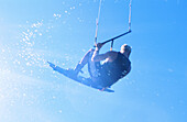 Kiteboarding. Columbia River. Oregon. USA