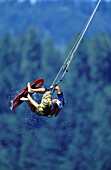 Kiteboarding. 2002 Gorge Games. Hood River, Oregon. USA