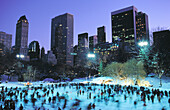 Skaters at Wollman Rink. Central Park. New York City. USA