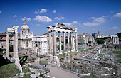 Roman Forum, ruins of the old city. Rome. Italy