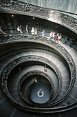 Entry stairs to Vatican Museums. Vatican City. Rome. Italy