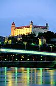 Bratislava Castle at night. Slovakia