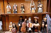Miniature jewish figures in the Old Town Market Square (Rynek Starego Miasta). Warsaw. Poland