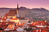Bohemia, Building, Buildings, Cesky Krumlov, Ceský Krumlov, City planning, Cityscape, Cityscapes, Color, Colour, Czech Republic, Daytime, Europe, Exterior, Horizontal, Morning, Mornings, Outdoor, Outdoors, Outside, Overview, Overviews, Town, Town plannin
