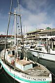 Marina at Fisherman s Wharf. San Francisco. California, USA