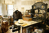 Print Shop interior. Columbia State Historic Park. Gold Country. California, USA
