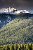 Early winter mountainscape. Banff National Park. Alberta, Canada