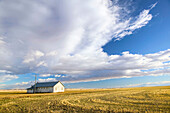 Landscape with dramatic sky. Stand Off. Alberta, Canada
