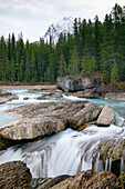 Yoho National Park in autumn, Natural Bridge Falls, Emerald River. British Columbia, Canada