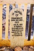 Cowboy gravestone in historic Boot Hill Graveyard. Tombstone, America s gunfight capital. Arizona, USA