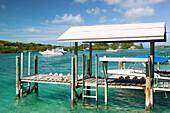 Bahamas, Abacos, Loyalist Cays , Man O War Cay: Albury s Sail Shop, Pier View