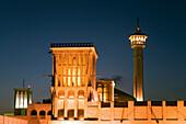 United Arab Emirates Dubai, Bur Dubai, The Grand mosc , Bastakiya district, wind tower