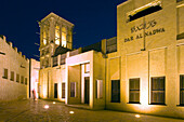 Bur Dubai Bastakiya historical district at south part of Dubai creek, wind tower