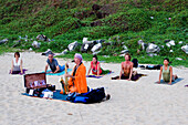 India Kerala Vakala beach Yoga workshop