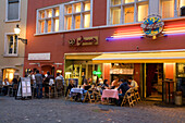 Switzerland, Zurich, Niederdorf, people, restaurants, outdoor