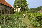 Monastery garden of Michaelstein monastery, Blankenburg, Saxony Anhalt, Germany