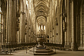 Halberstadt, gothic Cathedral St Stephans and St Sixtus, interior, Harz Mountains, Saxony Anhalt, Germany