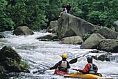 white water canoe, sport, Harz mountains, Lower Saxony, Germany