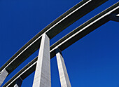 Architecture, Bridge, Bridges, Color, Colour, Column, Columns, Detail, Details, Exterior, Hard, Hardness, Height, Horizontal, Outdoor, Outdoors, Outside, Power, Skies, Sky, Tall, CatV5, 100529, agefotostock