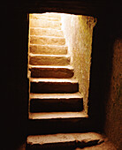 Ascend, Ascending, Ascension, Ascent, Color, Colour, Concept, Concepts, Dark, Darkness, Indoor, Indoors, Interior, Light, Mysterious, Mystery, Staircase, Stairs, Steps, Up, Vertical, CatV5, 10647, agefotostock