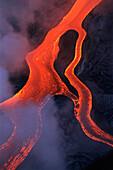 Lava flow. Kilauea volcano. Hawaii Volcanoes National Park. Hawaii. USA