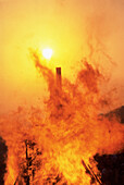 Burn, Burning, Catastrophe, Catastrophes, Color, Colour, Damage, Damaged, Damages, Daytime, Destruction, Disaster, Disasters, Economy, Exterior, Fire, Fires, Flame, Flames, Heat, Outdoor, Outdoors, Outside, Sun, Vertical, CatCommerce, 14636, agefotostock