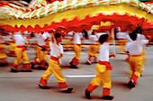 Dragon dancers. Chinese Independence Day. Kowloon. Hong Kong. China