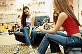 riends, Clothes, Color, Colour, Commerce, Companion, Companions, Consumption, Contemporary, Dark-hair