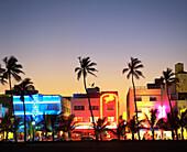 Art Deco Hotels. Ocean Drive. South Beach. Miami Beach. Florida. USA