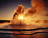Geyser. Yellowstone National Park. Wyoming. USA