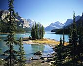 Maligne Lake with Spirit Island. Jasper National Park. Alberta. Canada