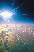 Cloud, Clouds, Color, Colour, Exterior, Infinite, Infinity, Light, Nature, Outdoor, Outdoors, Outside, Renewable energy, Scenic, Scenics, Skies, Sky, Spiritual, Spirituality, Summer, Summertime, Sun, Vertical, CatV2, 692, agefotostock