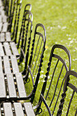 Park Benches. Burggarten. Palace Gardens. Vienna. Austria. 2004.