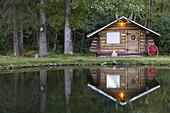 Lakeside Cabin at Bear Creek Lodge. Hope. Kenai Peninsula. Alaska. USA.