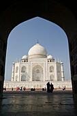 Taj Mahal- East Side with Silhouettes. Uttar Pradesh. Agra. India.