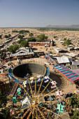 Fair View from Ferris Wheel. Pushkar camel fair. Pushkar. Rajasthan. India.