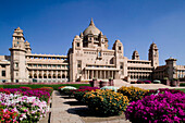 Umiad Bhawan Palace, built over 15 year 1929-1944, royal job creation program designed by British Royal Institute of Architects. Jodhpur. Rajasthan. India.