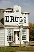 Living History Farms Museum - 1800 s Shafer Drugstore. Des Moines. Iowa. USA.