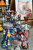 Morocco-Casablanca: Quartier Habous / Nouvelle (New) Medina built by the French in the 1930 s-Moroccan Souvenirs-Sheesha Water Pipes