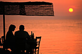 Dining alfresco. Stoupa. Peloponnese. Greece