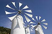 Traditional cretan windmills. Ano Kera. Iraklio Province. Crete, Greece.