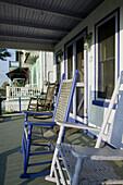 Rocking Chairs. Camp Meeting Grounds. Gingerbread Houses. Oak Bluffs. Martha s Vineyard. Massachusetts. USA.