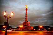 Street light and Victory Column, Berlin, Germany