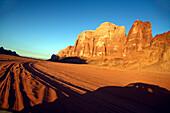 Travelling through Wadi Rum, Jordan